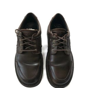 Ecco Size 44 (10) Brown Tie Front Casual Shoe